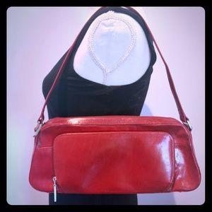 HOBO red leather shoulder bag